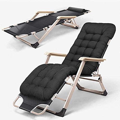 DERUKK-TY Silla de tumbona de patio con bloqueo de gravedad cero, tumbonas portátiles al aire libre, sillas plegables sin peso, sillas de jardín de playa de apoyo 200 Kg-gris