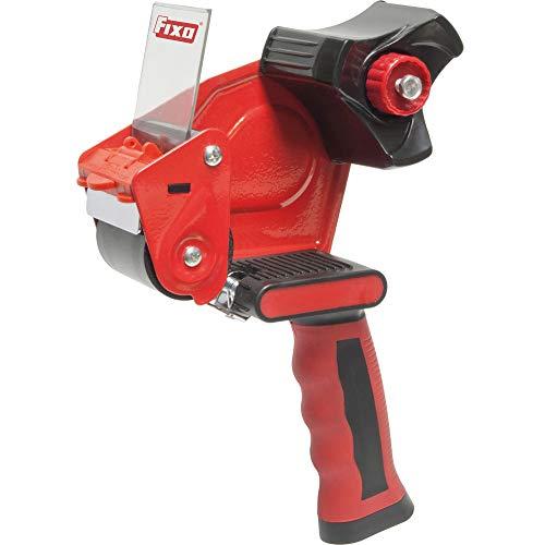FIXO 8413623770298 Dispensador Precinto Metalico Maquina Precintar Pistola Mango Ergonomico Embalar, Gris