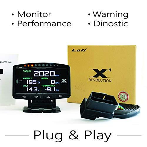 Lufi X1 | OBD2 Display Gauge Code Reader Scanner |Car Dinostic Tool| RPM Tachometer with OBD2 Warning System for OBD2 Car Model