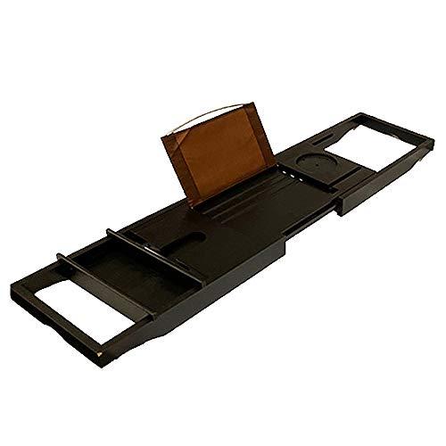 XIAOLI Ajustable Bandeja De Baño Bambu Equipado con estanterías para Relajarse en...