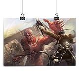 widnah Attack on Titan,Anime Room Decor,Japanese Wall Art,Eren,Mikasa,Armin,HD Print on Canvas Art Poster,Home Decor Living Room (Unframed,12x18inch-30x45cm)