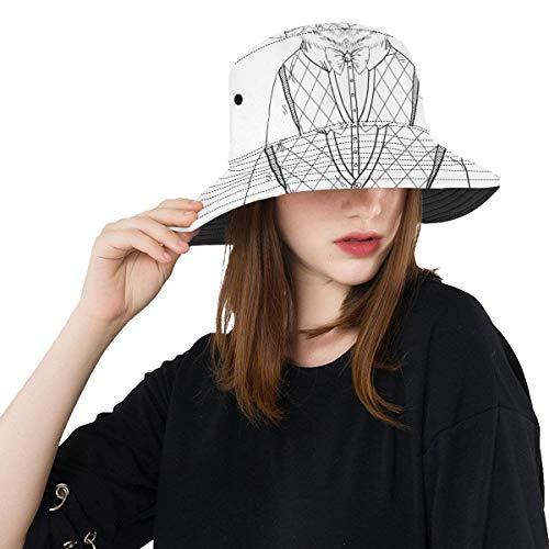 Sombreros de Cubo para Hombre Oso Vestido Encantador Verano Unisex Pesca Sol...