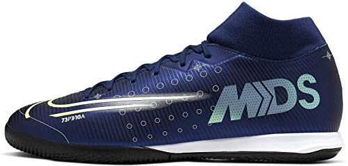 Nike Herren Superfly 7 Academy MDS Ic Multisport Indoor Schuhe, Blau (Blue Void/Metallic Silver-White 100), 45 EU