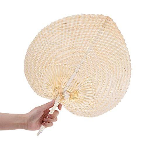 Abanico Tejido A Mano De Rafia Tejido Bambú Natural, PAI PAI De...