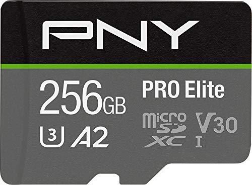 PNY 256GB PRO Elite Class 10 U3 V30 microSDXC Flash Memory Card, P-SDU256V32100PRO-GE