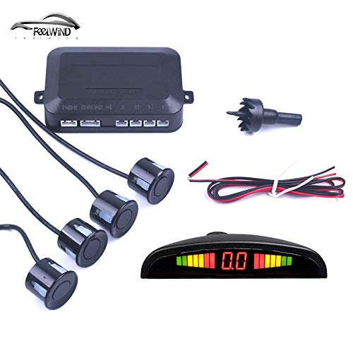 Why Should You Buy Gray : Car Auto Parktronic LED Parking Sensor with 4 Sensors Reverse Backup Car P...