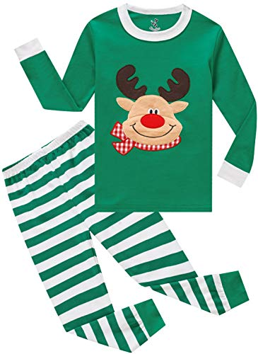 Boys Christmas Pajamas Girls Children Santa Claus PJs Gift Toddler 2 Pieces Pants Set Sleepwear