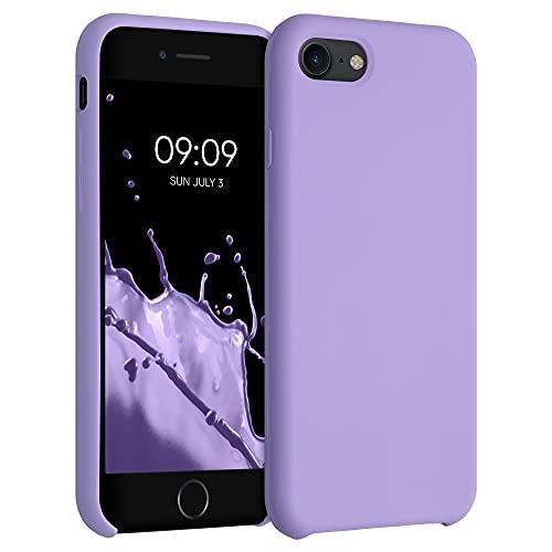 kwmobile Cover Compatibile con Apple iPhone 7/8 / SE (2020) - Cover Custodia in Silicone TPU - Back Case Protezione Cellulare Lavanda Lilla