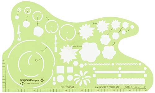 Alvin TD5361 Landscape Design Template