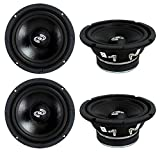 4) Pyle PDMR6 MidRange 6.5' 1200W Car Mid Bass Mid Range Woofers Audio Speakers