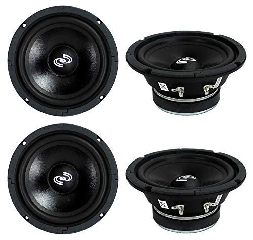 4) Pyle PDMR6 MidRange 6.5  1200W Car Mid Bass Mid Range Woofers Audio Speakers