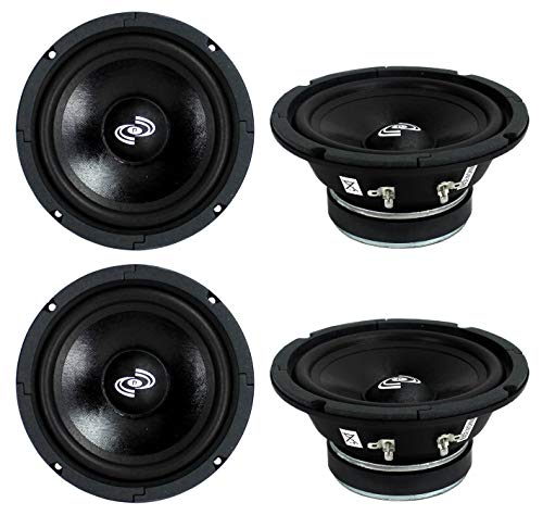 "4) Pyle PDMR6 MidRange 6.5"" 1200W Car Mid Bass Mid Range Woofers Audio Speakers"