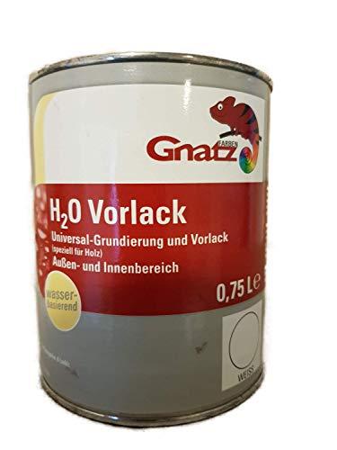 Gnatz H2O Universele grondverf, matwit, voor binnen en buiten, op waterbasis, 0,75 liter