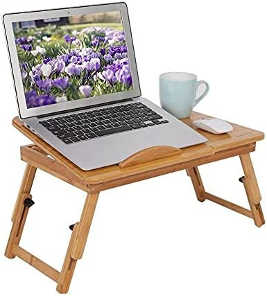 Bamboo Laptop Desk Adjustable 5% OFF Lap Bed Ranking TOP13 Stand Tray Notebook