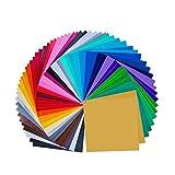 Paquete de 68 hojas de vinilo autoadhesivas permanentes premium de 12 'x 12', colores surtidos (32 colores)