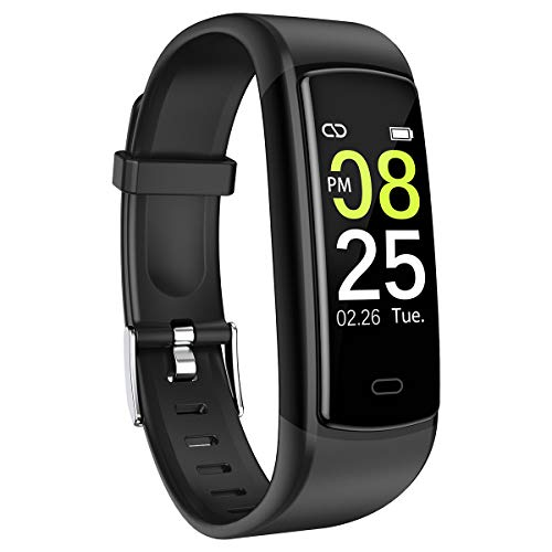 【2019 NEW Version】SIKADEER Fitness Tracker, Activity Tracker Waterproof Health Tracker with Heart Rate Monitor, Sleep Monitor, Step Counter, Calories Fitness Watch for Women Men Kids