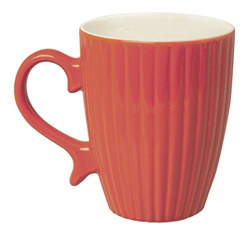 Excelsa Parisienne Mug 325 ML, Porcelaine, Rouge, 8.30 x 8.30 x 10.19 cm