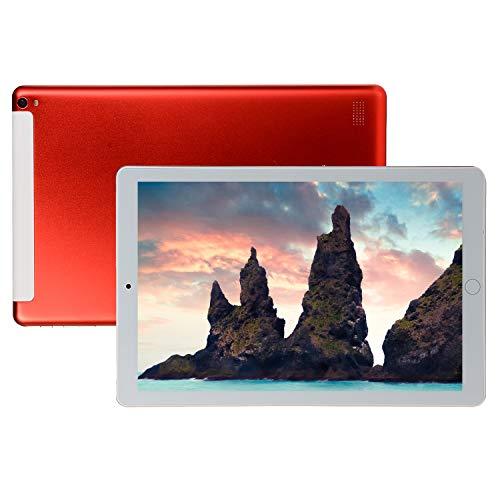 FJYDM Tableta Android De 10.1 Pulgadas, 32GB ROM 2GB RAM, Tablet PC con Ranuras para Tarjetas Dual Sim Tableta, WiFi, Bluetooth, Tableta con Pantalla IPS De Alta Definición,Rojo