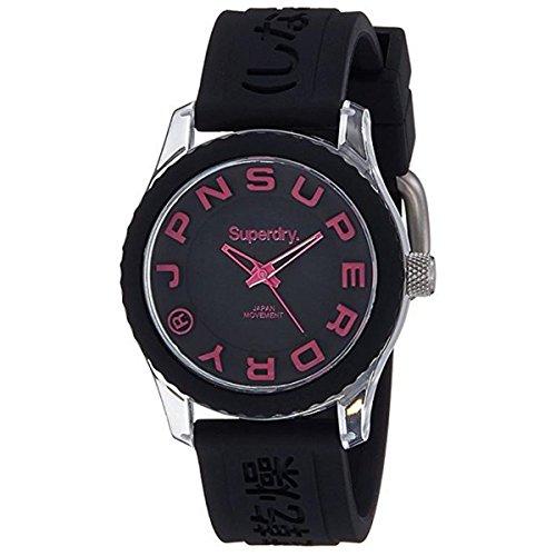 Superdry Reloj Analogico para Mujer de Cuarzo con Correa en Silicona SYLSYL146B