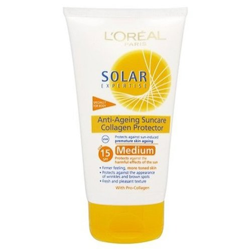 L'Oréal - Crème solaire anti-âge au collagène indice 15 - Solar Expertise - 150 ml