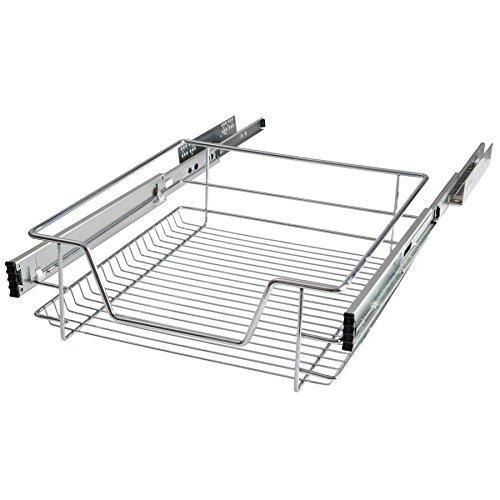 TecTake Teleskopschublade Küchenschublade Schlafzimmerschublade - Diverse Größen - (Passend für 50cm | Nr. 402016)