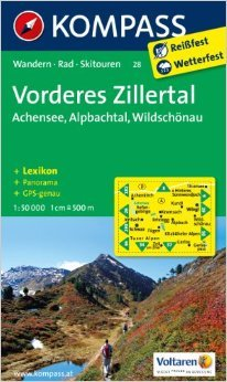 Vorderes Zillertal /Achensee /Alpbachtal /Wildschönau: Wanderkarte mit Kurzführer, Panorama, Radwegen und alpinen Skirouten. GPS-genau. 1:50000 (KOMPASS-Wanderkarten) ( Folded Map, Dezember 2011 )