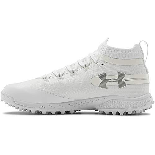 Under Armour Men's Spotlight Turf Lacrosse Shoe, White (100)/White, 15
