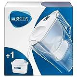 BRITA Aluna blanca - Jarra de Agua Filtrada con 1 cartucho MAXTRA+, Filtro de agua BRITA que reduce la cal y el cloro, Agua filtrada para un sabor óptimo, 2.4L
