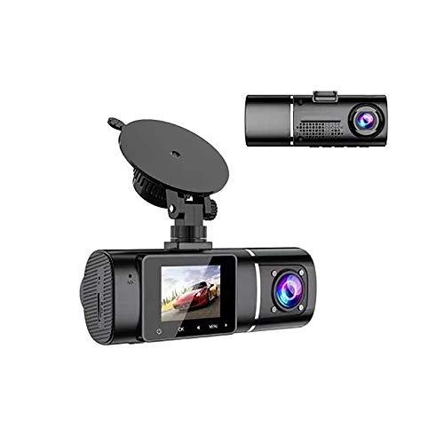 UNISOPH Dash CAM, cámara Dual 1080P Cámara de Coche de Alta definición Pantalla de 1,5 Pulgadas Soporte de Gran Angular de 170 ° en Varios Idiomas con Sensor G
