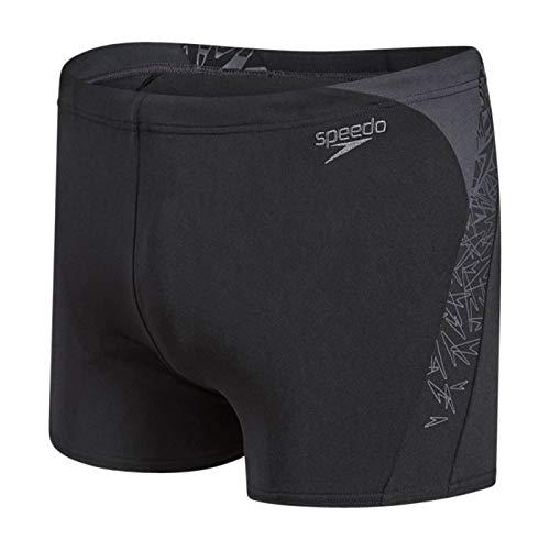 Speedo Boom Splice, Pantaloncini da Bagno Uomo, Nero (Black/Oxid Grey), 36 (IT 50)