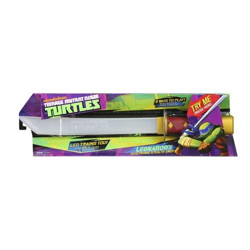Teenage Mutant Ninja Turtles 14092061 - Spada elettrica invisibile di Leonardo (Prodotto parlante in lingua Inglese)