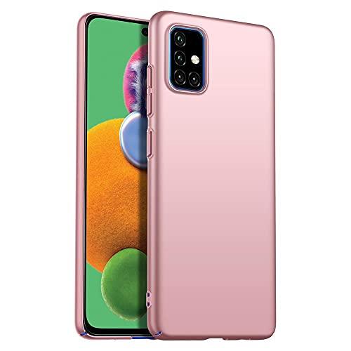 Anceky Funda ultrafina compatible con Samsung Galaxy A51, ligera, elegante, antiarañazos, antigolpes, carcasa rígida para Samsung Galaxy A71 (Galaxy A51, oro rosa)