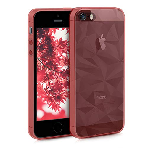 kwmobile Hülle kompatibel mit Apple iPhone SE (1.Gen 2016) / 5 / 5S - Handyhülle - Handy Case 3D Prisma Rosegold