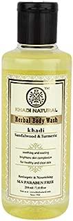 Khadi Natural Sandal and Turmeric Body Wash, 210 ml