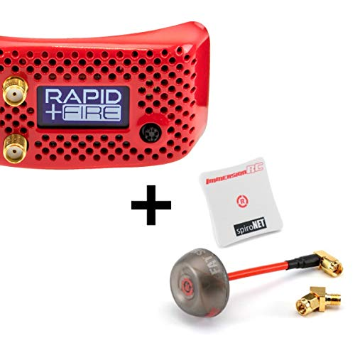 ImmersionRC rapidFIRE w/ Analog Plus Goggle Receiver Module w/ SpiroNET v2 5.8GHz RHCP Diversity Bundle (2 Antennas)