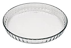 Marinex Glass Fluted Flan or Quiche Dish, 10-1/2-Inch (4 Units)