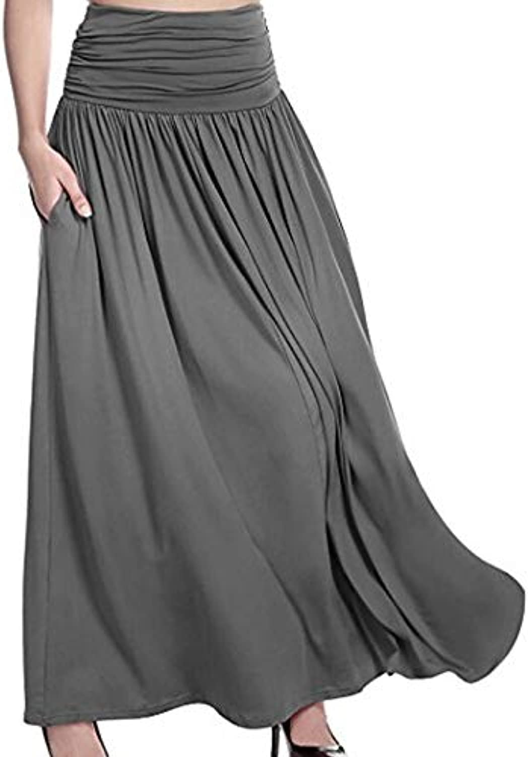 Women's Asymmetrical Swing Skirts  Solid colord