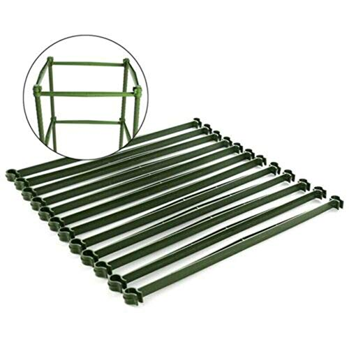 Venus valink 12 Pcs Tomatoes Trellis Connector Stake Arm Cage Plant Plastic Stake Durable for Garden