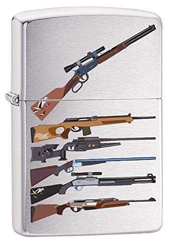 Zippo Lighter: Rifle Designs - Brushed Chrome 79725