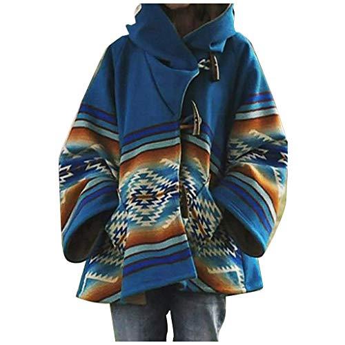 KaloryWee 2020 Winter Damen Mantel Klassisch Strassenmode Kapuzenpullover Loose Warm Winddicht Damenumhang mit Kapuze