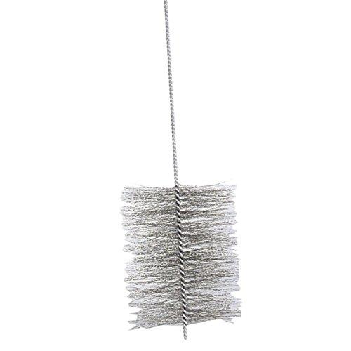 Kamino-Flam Ofenrohrbürste 333275, aus robustem Stahldraht, für den Rechtslauf gedrehte Kaminbürste, Stahldrahtbürste für den Innen- und Außenbereich, selbst Biegungen sind mit der Bürste gut zu säubern, die Bürste ist auch im Sanitärbereich einsetzbar, die Maße betragen ca. Ø 18 x 150 cm