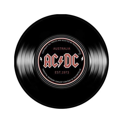 Round Floor ACDC MUSIC Printed Soft Fabric Round Floor Mat Carpet Room Area Bedroom Rug Home Decor Sales (C)