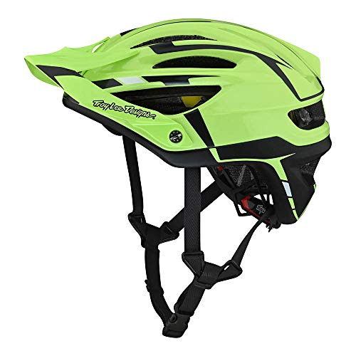 Troy Lee Designs A2 MIPS Bike Helmet - Silver Green/Gray Small