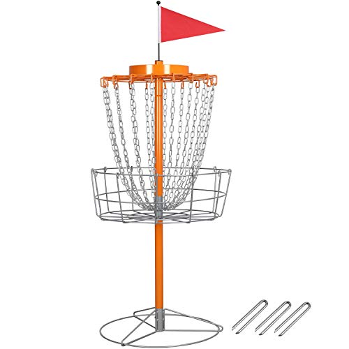 YAHEETECH 18 Chain Portable Disc Golf Basket Target- Golf Goals Baskets Practice Sets