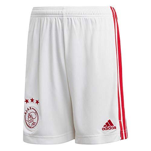 adidas Ajax Heimshorts, Pantaloncini da Uomo, Bianco, M