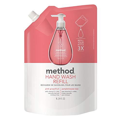 method(メソッド) ハンドソープ ジェルタイプ ピンクグレープフルーツ 詰替え用 1L