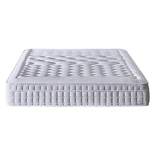 MKMKT Colchón, colchón de látex de tamaño completo, resorte independiente, diseño ergonómico, transpirable tridimensional, tejido transpirable 3D, grosor 12 pulgadas, 59 x 79 pulgadas