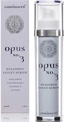 Hyaluronsäure Serum hochkonzentriert 5-fach Anti-Aging Creme Gel gegen Falten und Augenringe 50ml Luminares Opus No.3 Made in Germany