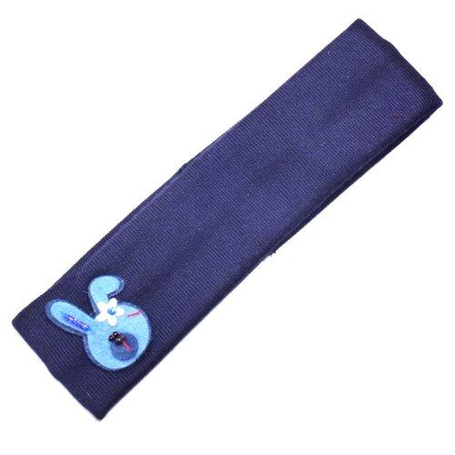 rougecaramel - Accessoires cheveux - Bandeau enfant lapin - bleu marine