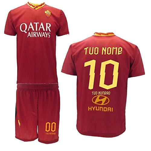 BrolloGroup Completo Calcio As Roma Personalizzato Replica Ufficiale 2019/20 PS 32776 Adulto Bambino (10 Anni)